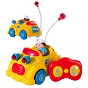 Toys Bhoomi Musical Infants RC Cartoon Remote Control Car for Toddlers Kids Children with Lights & Sound