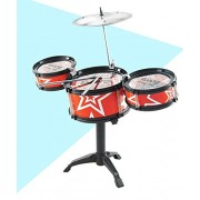 HATCHMATIC Jazz Drum and Chair Set Kids Early Education Toys Percussion Instrument Playing Drum Set Kit with 3 Drums Drum Set for Kids: 1