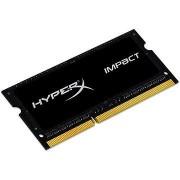 HyperX SO-DIMM 4 GB-os DDR3L 1600 MHz-es Impact CL9 kettős feszültségű fekete sorozat