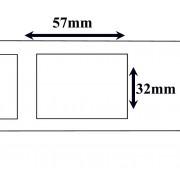 Labels Zebra compatible Labels 57 x 32 mm Thermal Labels Verwijderbaar (10 st)