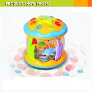 Babytintin™ Musical Fish Aquarium Drum Toy with 3D lights, Music, and Learning Activities