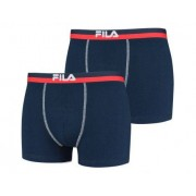 Fila - Man Boxer Elastic Band 2-Pack - Navy Shorts