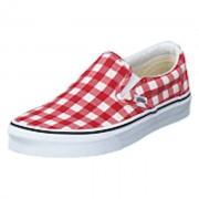 Vans Ua Classic Slip-on (gingham) Racing Red/true, Shoes, röd, EU 40