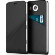 Husa Flip Cover Mozo Black Golf cu NFC si Wireless Charging pentru Microsoft Lum