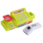 Acefun Supermarket Cash Register with Checkout Scanner Shopping Basket Grocery Food Pretend Play with Light and Sound