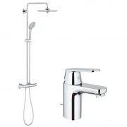 Pachet: Coloana dus Grohe Euphoria 260-27296002, Baterie lavoar Eurosmart Cosmo marimeS-32825000
