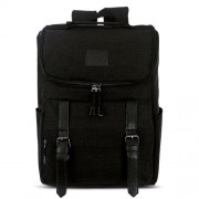 Universal Multi-Function Canvas Laptop Computer Shoulders Bag Leisurely Backpack Students Bag Size: 43x30x14cm For 15.6 inch and Below Macbook Samsung Lenovo Sony DELL Alienware CHUWI ASUS HP(Black)