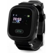 Ceas Smartwatch copii Wonlex GW900S functie telefon buton SOS monitorizare GPS SIM Negru Bonus Cartela Prepaid Vodafone Power