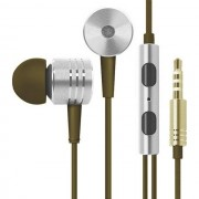 Maxy $$mi Auricolare A Filo Stereo In-Ear Super Bass Headphones Jack 3,5mm Universale Silver Per Modelli A Marchio Blackberry