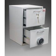 Seif cu 2 sertare, inchidere electronica temporizata, 550 x 380 x 380 mm