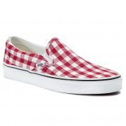 Teniși VANS - Classic Slip-On VN0A38F7VDY1 (Gingham) Racing Red/True