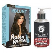 MISTER BEARD CHARCOAL SHAMPOO WITH BBLUNT NATURAL BROWN (4.31) HAIR COLOUR