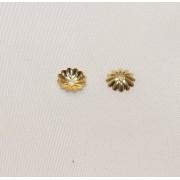 Floricele 7mm Placate cu Aur 18 Kt