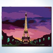 DIY Oil aintings Paint by Numbers Kits Eiffel Tower Paintworks DIY by Yourself