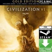 CIVILIZATION VI - GOLD EDITION (GLOBAL) - STEAM - WORLDWIDE - MULTILANGUAGE - PC