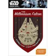 Star Wars Millennium Falcon Badge Window Decal Action Figure