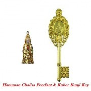 Sobhagya combo set of hanuman chalisa yantra and kuber kunji key which brings good luck and prosperity