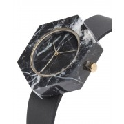 Analog Watch Mason Hexagon Black Marble Body & Black Strap Watch GB-BX