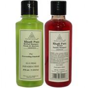 Khadi Pure Neem Aloevera and Satritha Shampoo SLS Free Combo (420ml) Pack 2
