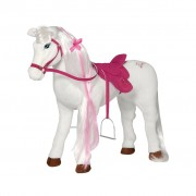 Barbie Toy Horse 鈥淢ajesty with Sound 81 cm White and Pink