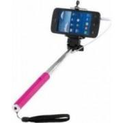 Selfie-Stick cu Suport Clip Sonic TEA120P Extensibil 110 cm Inox-Roz