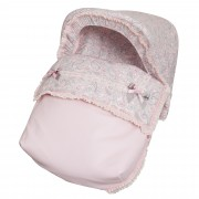 Saco Porta bebé Caramelo Rosa. (capota no incluida)