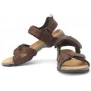 Clarks Men Walnut Leather Sports Sandals