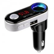 Радио трансмитер Tellur FMT-B2, MP3/WMA, Bluetooth, USB, MicroSD, 3.5mm жак, дисплей, черен, TLL622011