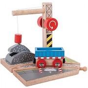 Bigjigs Rail Gravel Crane for Train Set