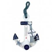 Thermomètre ancre de bateau 15 cm