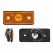 Lampa gabarit auto 12/24V dreptunghiulara Portocaliu cu leduri, 117x47x9mm, 1 buc.