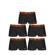 KTM Boxer-Briefs, 5er-Pack, orange/schwarz