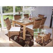 6x Esszimmerstuhl Korbstuhl M45 Stuhl Bananengeflecht ~ Variantenangebot