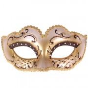 Masker zwart met goud