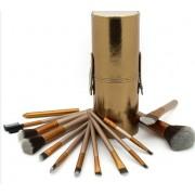 Set 12 pensule make-up Naked2 Urban Decay tub auriu piele