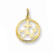 Quickjewels Huiscollectie Goud Gouden geloof, hoop en liefde hanger 4005596