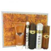Cuba Gold by Fragluxe Gift Set -- 3.3 oz Eau De Toilette Spray + 3.3 oz After Shave Spray + 6.7 oz Body Deodorant Spray + 6.7 oz Shower Gel + 1.17 oz EDT Spray
