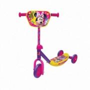 Trotineta copii AS Toys 3 roti placa antiderapanta Minnie Mouse Multicolor