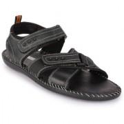 Action Men'S Black Velcro Sandals