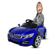 Jack Royal Battery Operated Kid Ride On Car With Remote Controlled (Optional Controller) (Blue)
