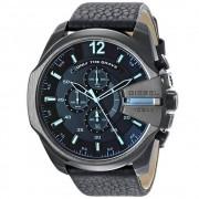 Diesel Reloj Dz4323 Mega jefe azul & rojo esfera negra cronógrafo h...