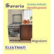 Savaria FF6406GAZM kombinált tűzhely, inox, WOK égővel , 60 cm széles