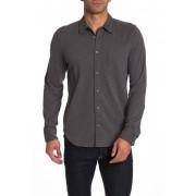 JASON SCOTT Wilson Long Sleeve Trim Fit Shirt CHARCOAL