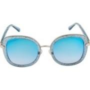 Voyage Cat-eye Sunglasses(Blue)
