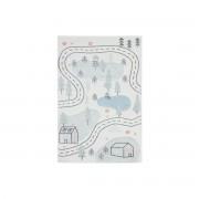 Miliboo Teppich für Kinder mit Straßenmotiv 100 x 150 cm NINO