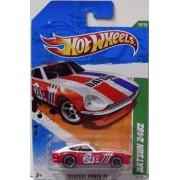"TREASURE HUNT!! Hot Wheels 2011 DATSUN 240Z"" TREASURE HUNT 11 - 12 of 15 - 62/244 Red & White with #24 Racecar Decal on Door & DATSUN in bold black letters across hood"