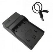 FH50 cargador de bateria movil de la camara micro USB para Sony - negro