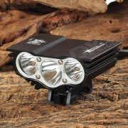 SolarStorm 800lm 3-LED Frio Blanco 4-modo Bike Faro-Negro (7.4 ~ 8.4V)