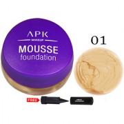 APK Matte Mousse Foundation PK22-01 With Free Adbeni Kajal