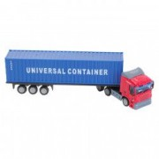 Masinuta tir transport container marfa albastru